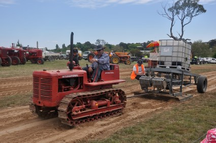Competition tractor pulling