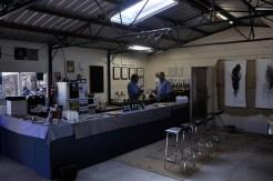 The tasting room inside the Little Bridge winery