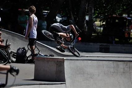 BMX demo at the skate park.