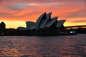 The Opera house at sun down