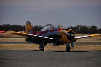 One of five T-28 Trojans in the show