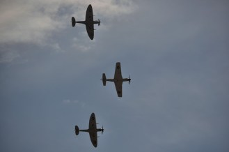 Two Spitfires and a CA-18 Mustang