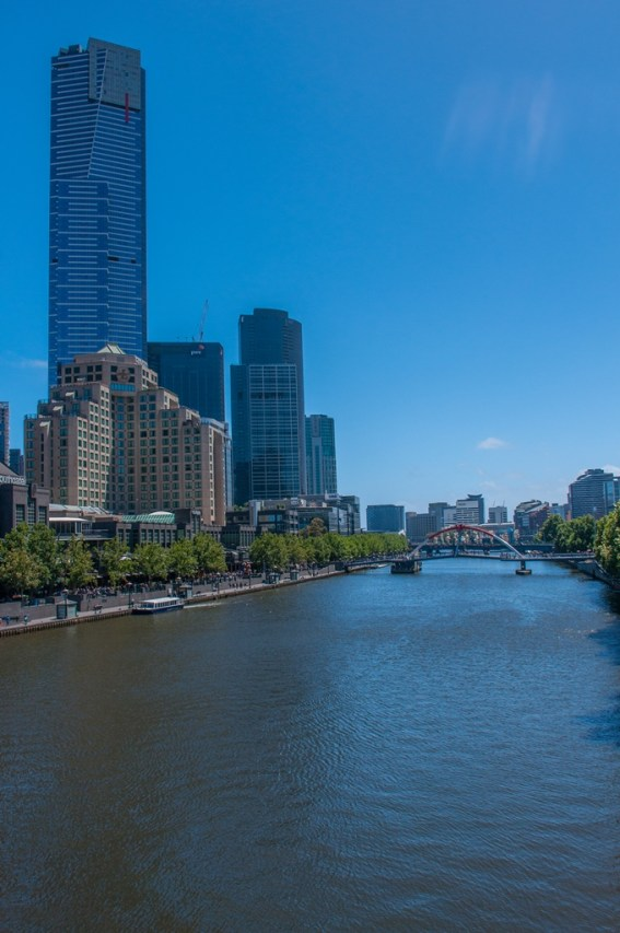 The mighty Yarra running through Melbourne