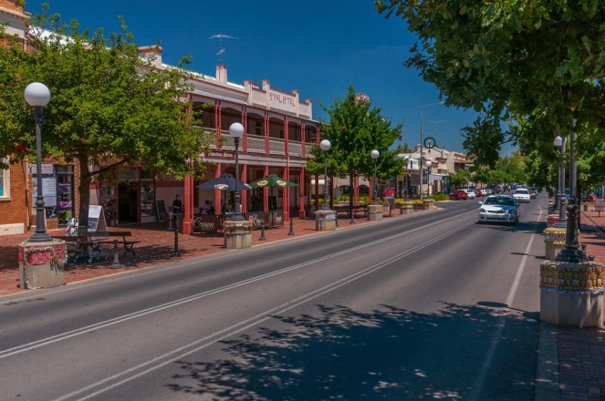 Part of Corowa High Street