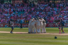 ... and the Aussies celebrate the series win.