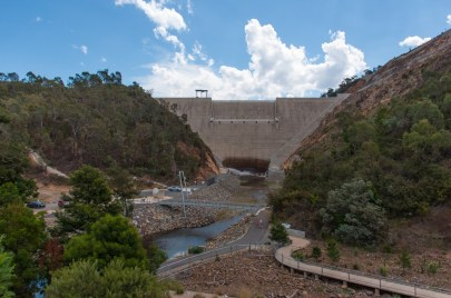 The dam wall at Cotter