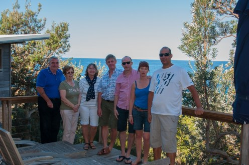 Final picture of the group on the balcony.