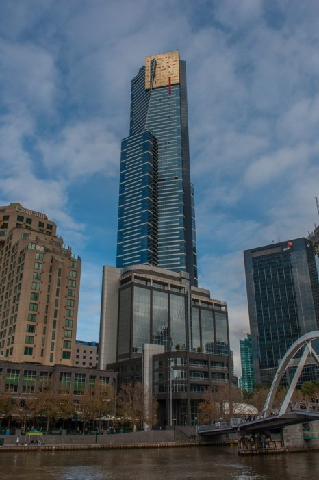 The Eureka Tower from the ground