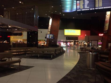 An empty International lounge at Melboure