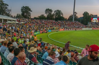 Part of the crowd at manuka Oval