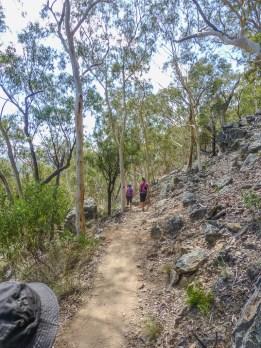Climbing up Black Mountain
