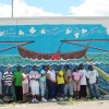 YES Boat Mural