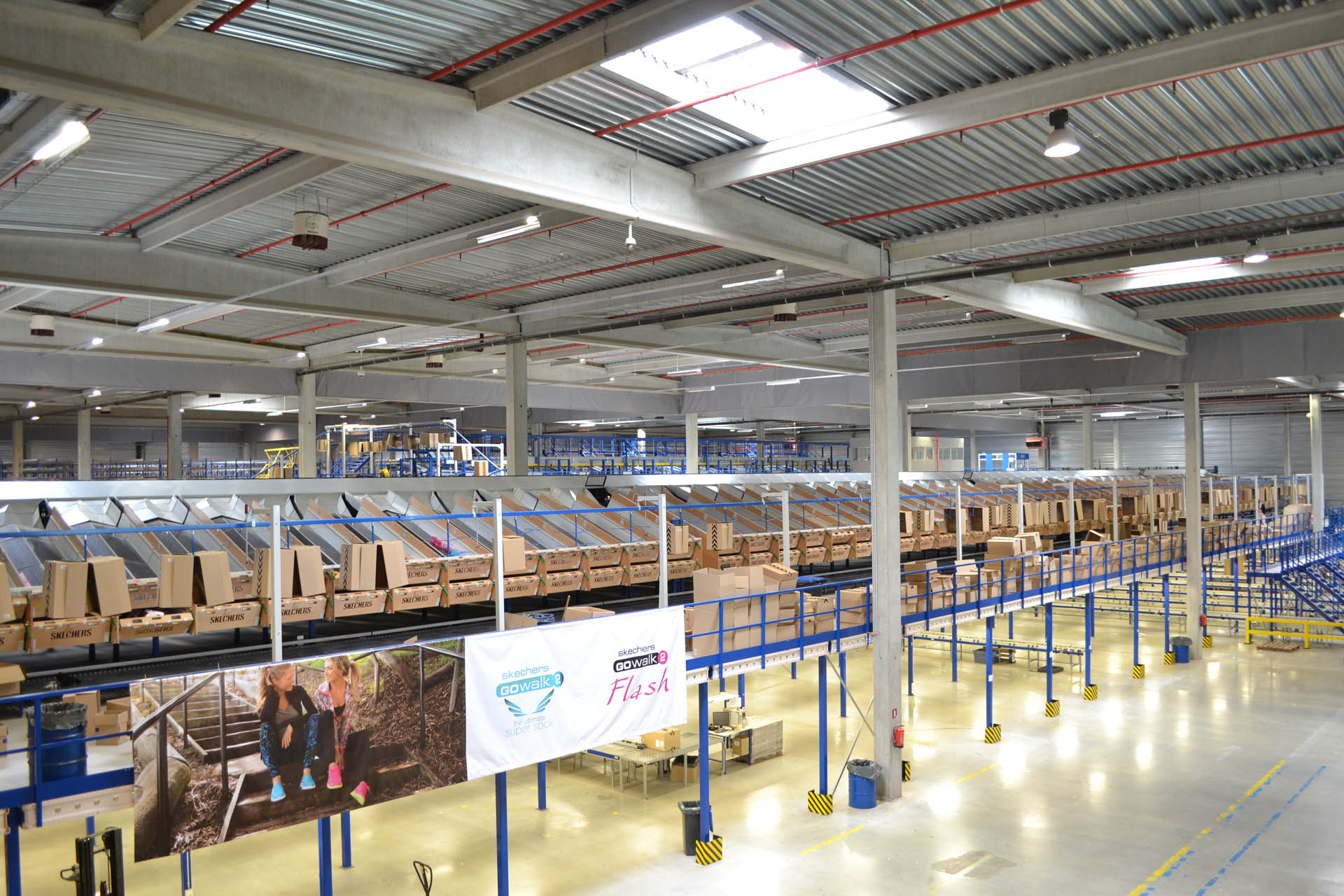Inside the Skechers European Distribution Centre (EDC) in Liège