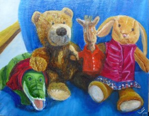 Stuffed Toys painting