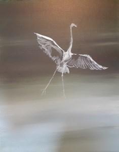 Heron painting lights and dark values