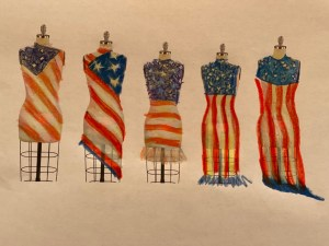 """""""dressed in the flag"""" prophetic art digital and colored pencil"""