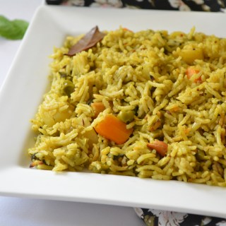 Minty Vegetable Pulav 'One pot Version'