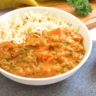 Sweet Potato Kale Curry + Tips to make a perfect curry