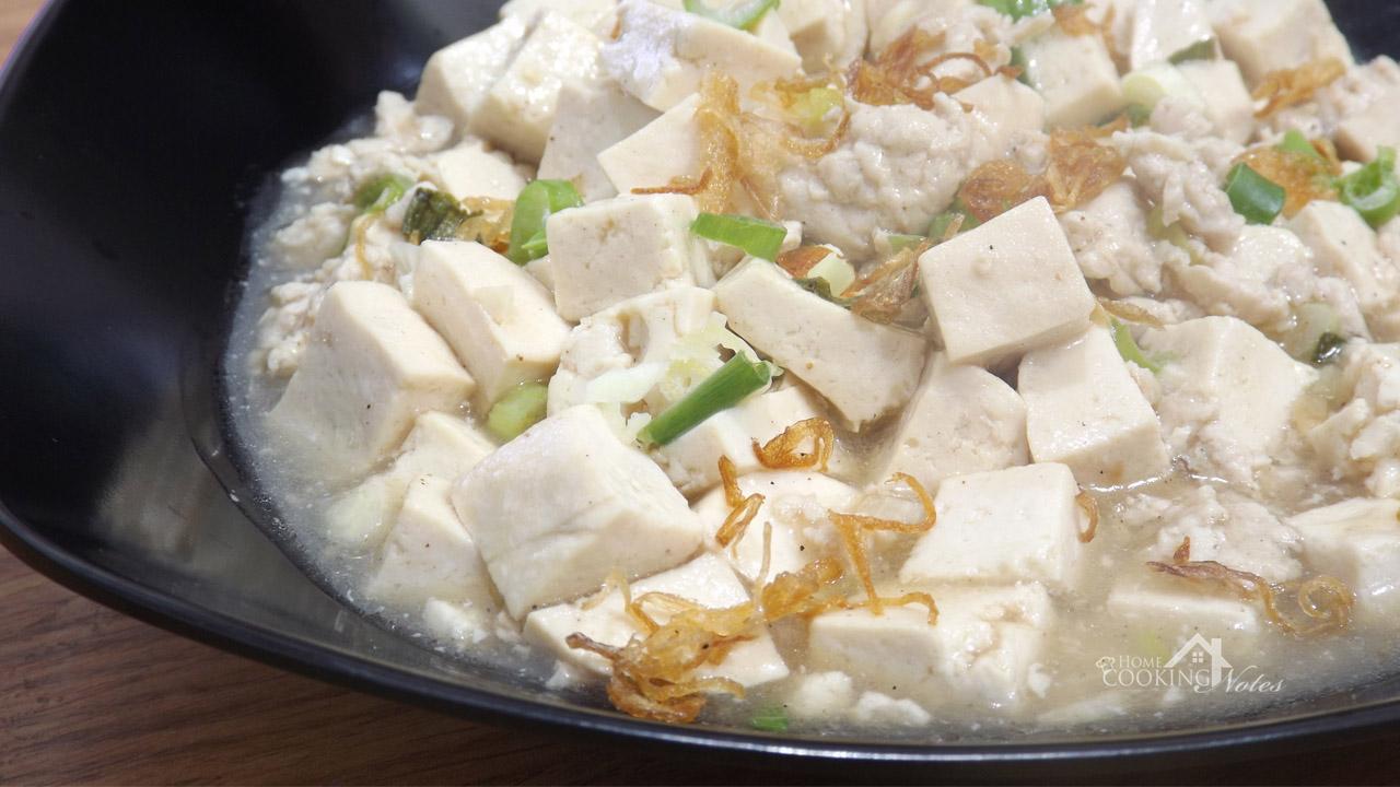 Resep Mun Tahu (Tofu and Ground Chicken)