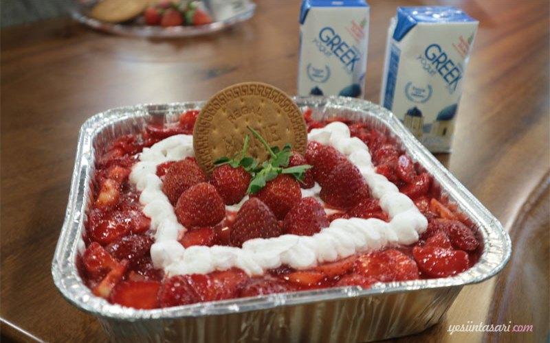 resep strawberry cheesecake tanpa oven
