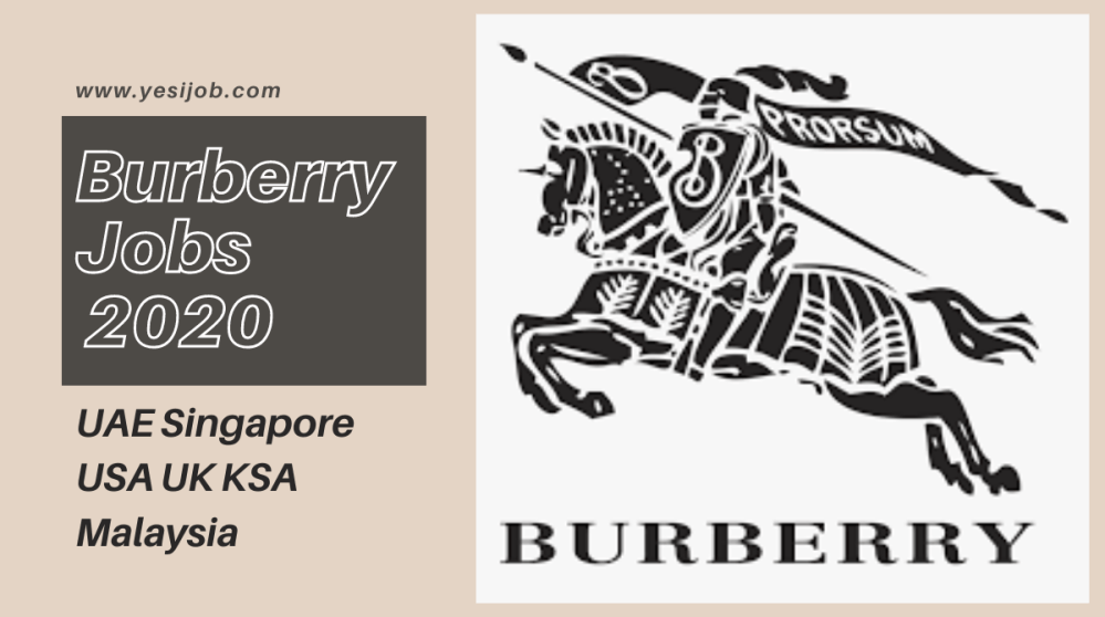 Burberry Job Vacancies