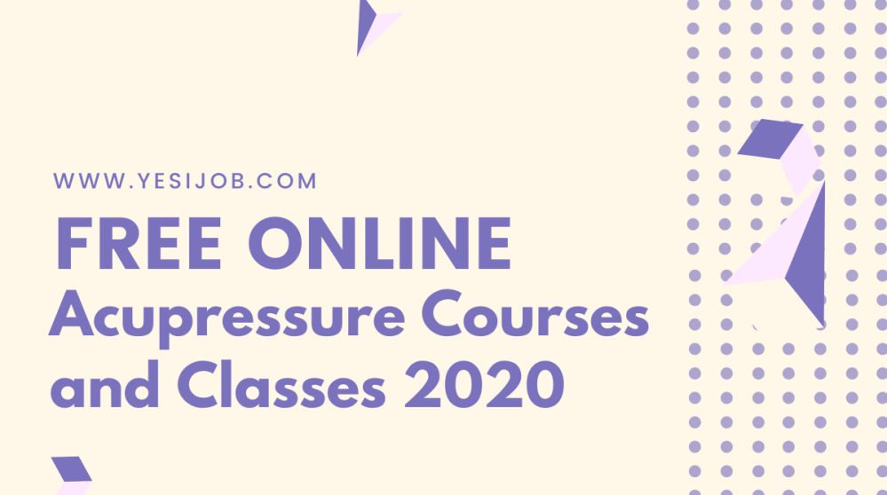 Acupressure Courses and Classes 2020