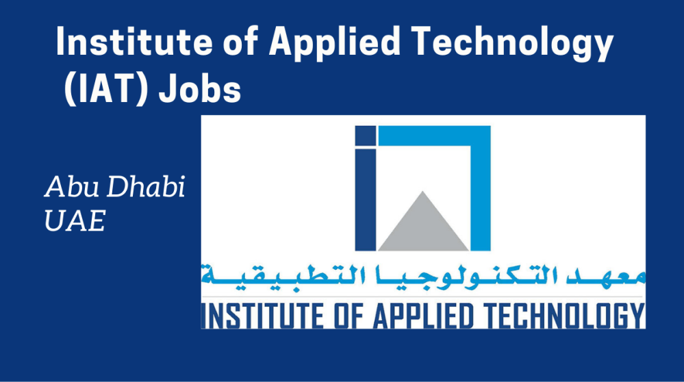 Institute of Applied Technology Jobs