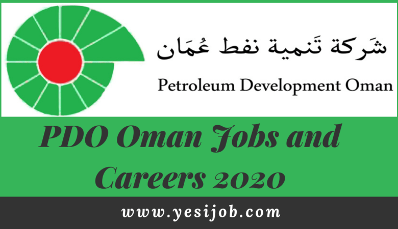 PDO Oman Jobs and Careers 2020