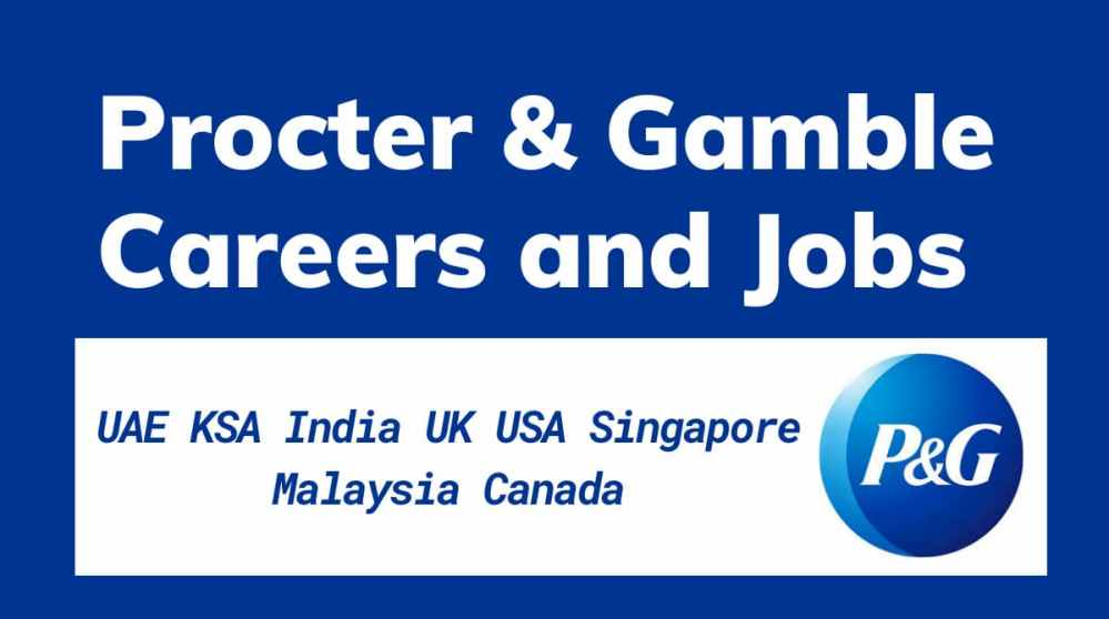 Procter and Gamble Jobs