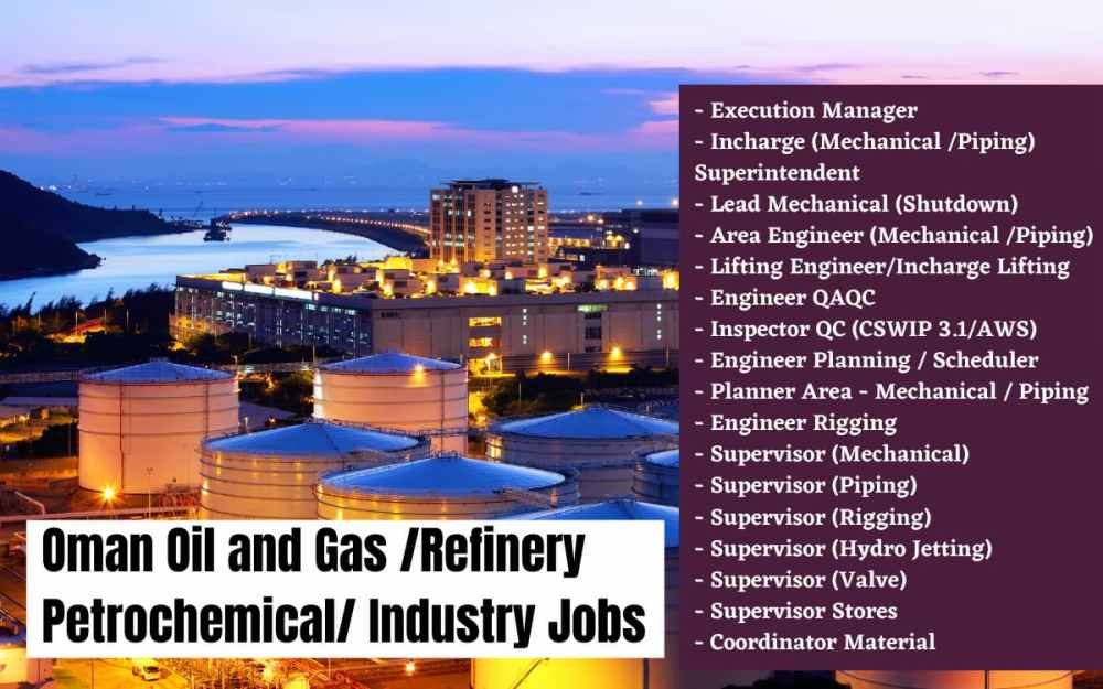 OmanOil and Gas Petrochemical Industry Jobs