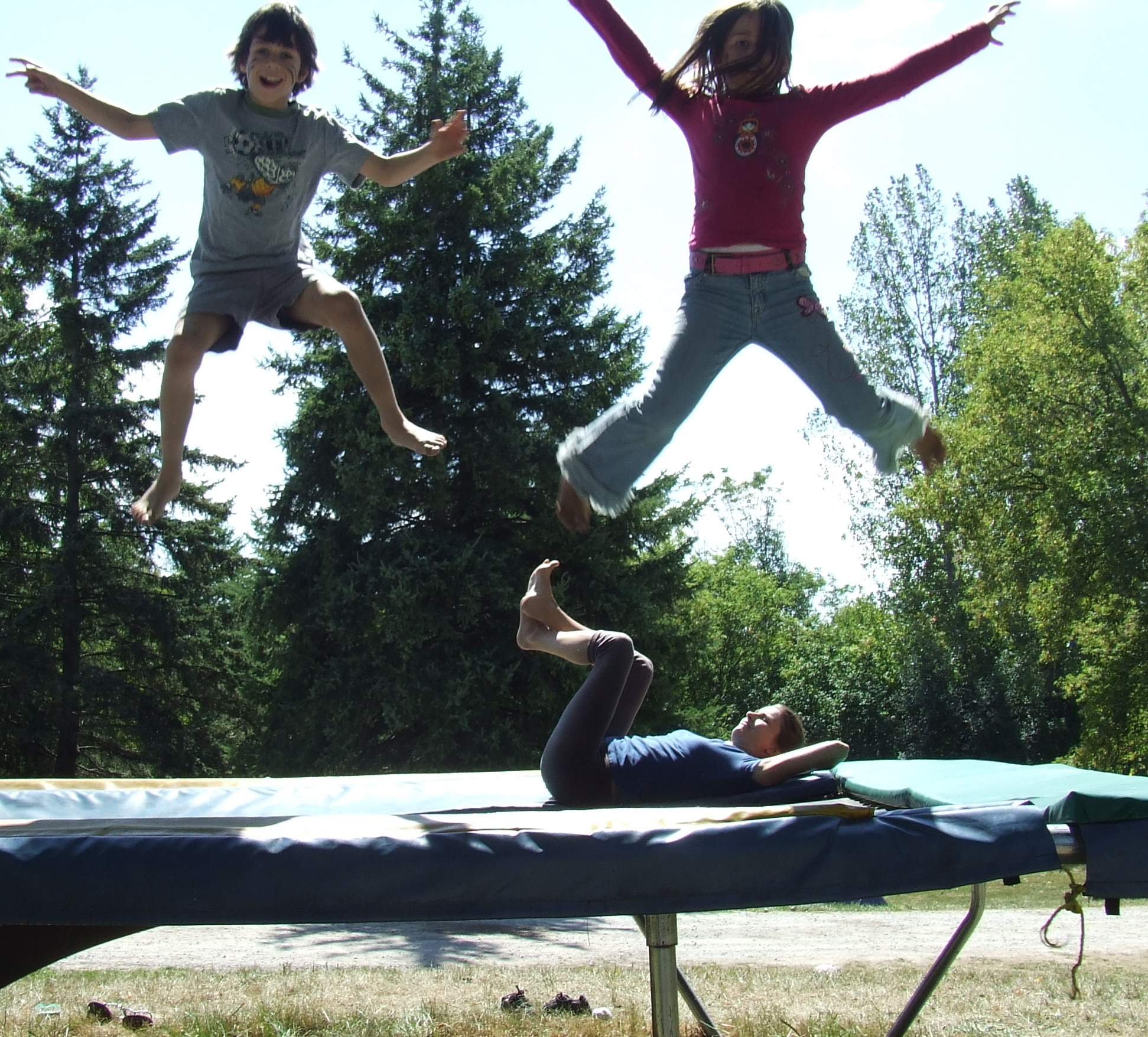 free and happy kids playing