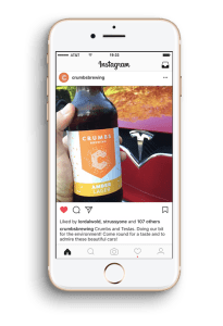 Crumbs Brewing | Instagram Channel | YesMore Client Alcohol Marketing
