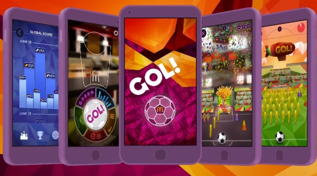 Gol App by Tony Malcolm for McDonalds