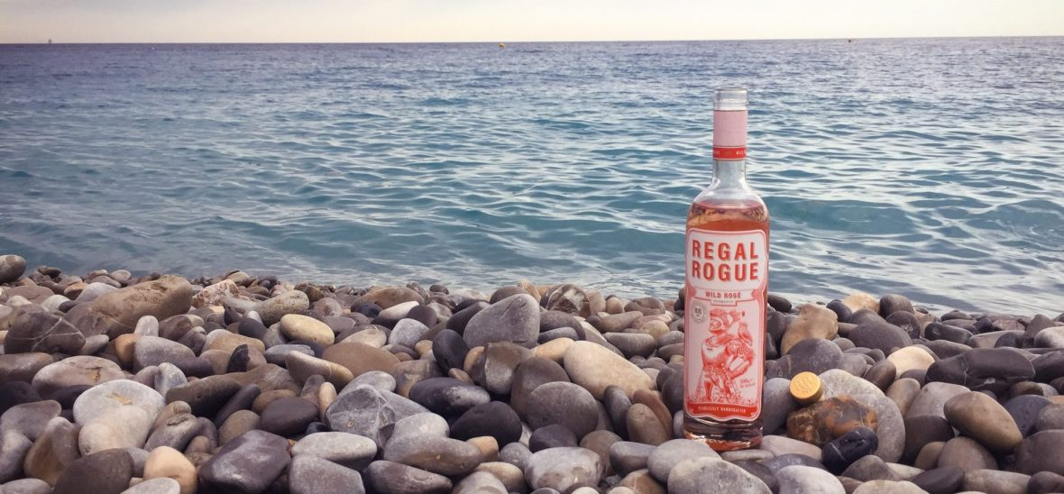 Regal Rogue vermouth on the beach in Nice southern France YesMore Agency