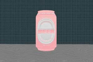 Beer label design on beer can