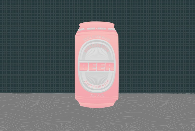 Beer label design on beer can