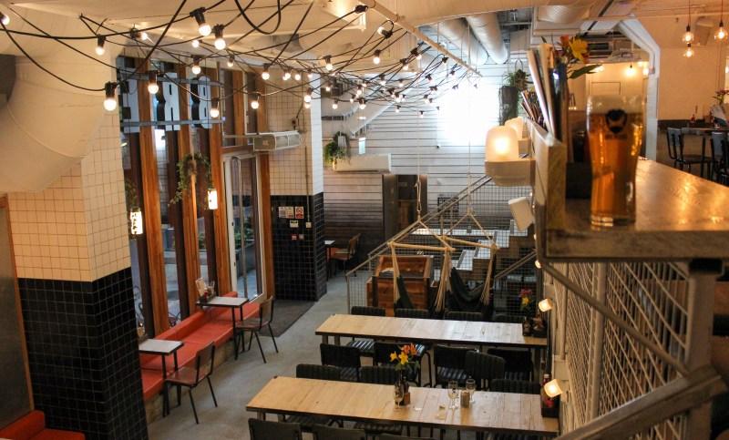 Inside BrewDog Alcohol Free bar in Shoreditch, East London