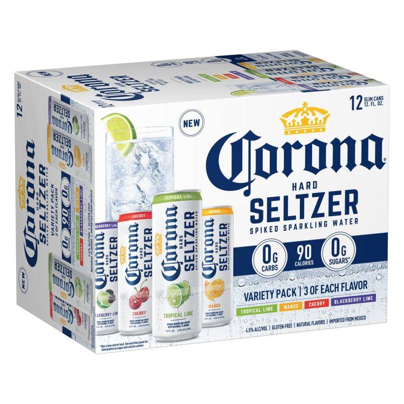 Corona hard seltzer box