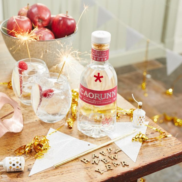 Caorunn Raspberry Gin Happy New Year Content - Social Media from YesMore Gin Marketing Agency
