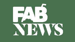 FAB News Logo Transparent White