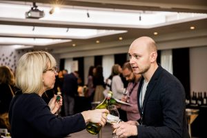 People at New Zealand Wine tasting event with YesMore wine marketing agency