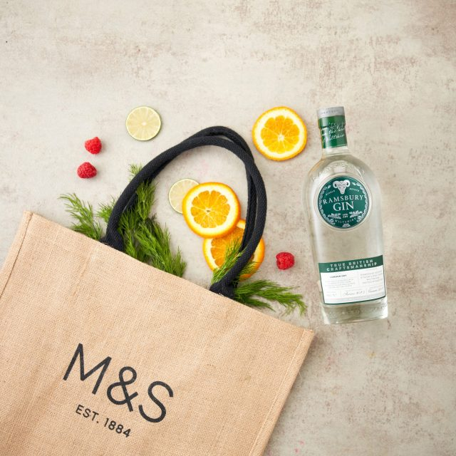 Ramsbury Single Estate Gin brand, with Sainsbury's content, a YesMore Gin Marketing Agency client for social media