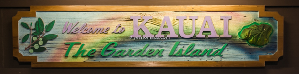 Kauai insel willkommens Zeichen