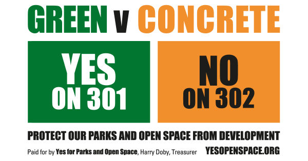 Yes Open Space Yard Sign