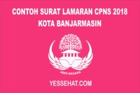 Contoh Surat Lamaran CPNS Kota Banjarmasin