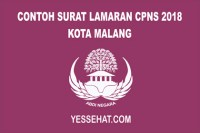 Contoh Surat Lamaran CPNS Kota Malang