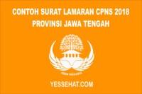 Contoh Surat Lamaran CPNS Provinsi Jawa Tengah