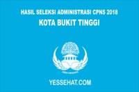 Pengumuman Hasil Seleksi Administrasi CPNS Kota Bukittinggi 2018