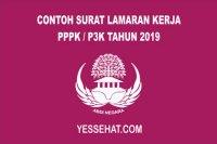 Contoh Surat Lamaran Kerja PPPK / P3K 2019