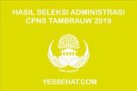 Pengumuman Hasil Seleksi Administrasi CPNS Tambrauw 2019